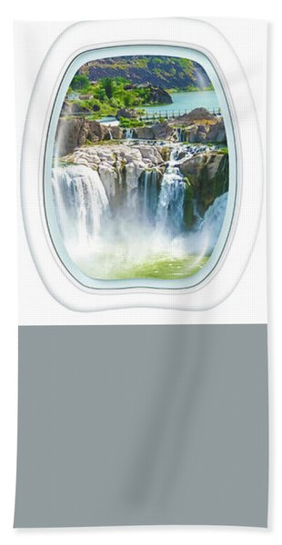 Niagara Falls Porthole Windows Bath Towel