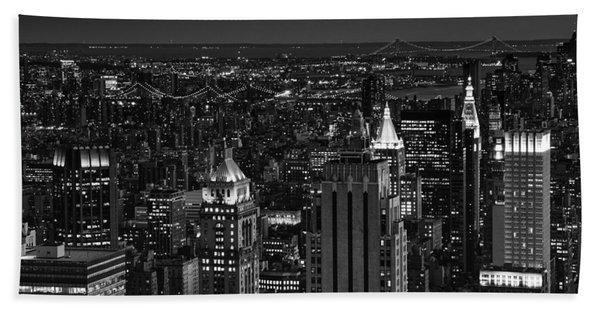 Night In Manhattan Bath Towel