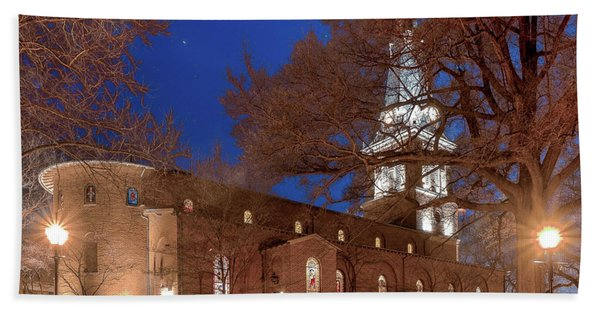 Night Lights St Anne's In The Circle Hand Towel
