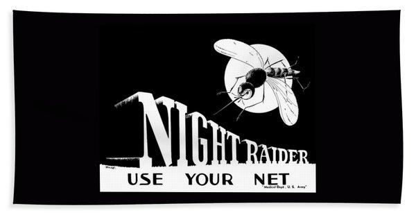 Night Raider Ww2 Malaria Poster Bath Towel