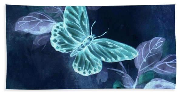 Nightglow Butterfly Bath Towel