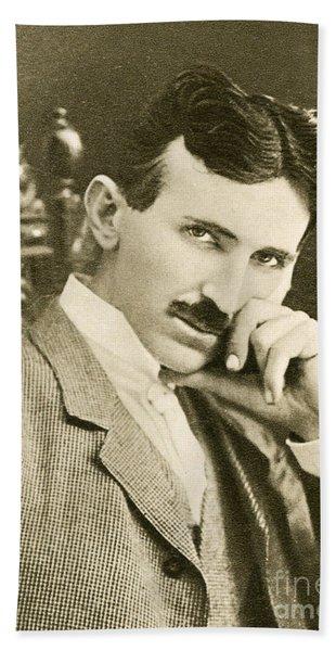 Nikola Tesla, Serbian-american Inventor Bath Towel