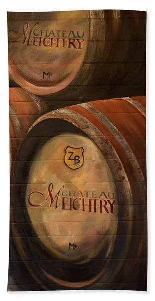 No Wine Before It's Time - Barrels-chateau Meichtry Hand Towel