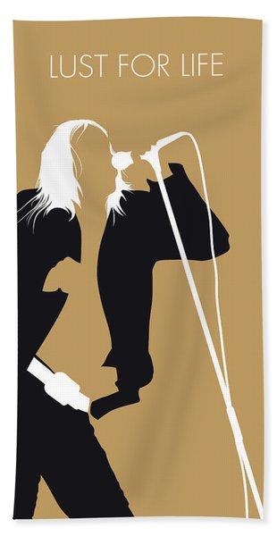 No210 My Iggy Pop Minimal Music Poster Bath Towel