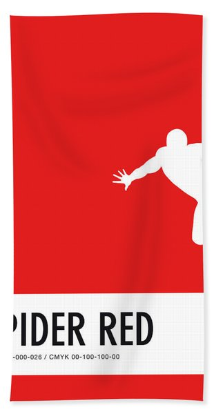 No24 My Minimal Color Code Poster Spiderman Bath Towel