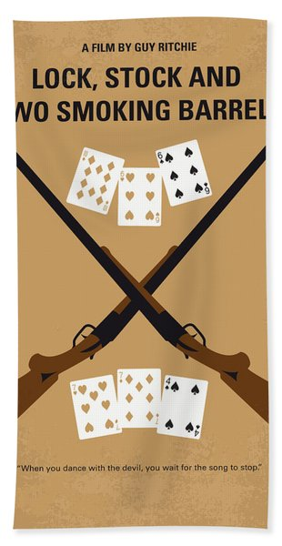 No441 My Lock Stock And Two Smoking Barrels Minimal Movie Poster Hand Towel