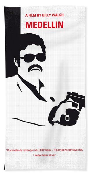 No526 My Medellin Minimal Movie Poster Hand Towel