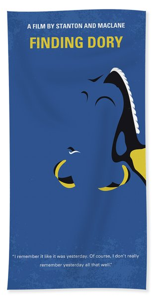 No717 My Finding Dory Minimal Movie Poster Hand Towel