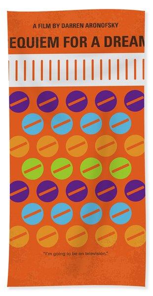 No858 My Requiem For A Dream Minimal Movie Poster Bath Towel