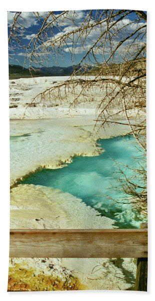 Bath Towel featuring the photograph Norris Hot Spring by Greg Norrell