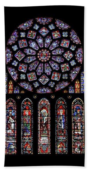 North Rose Window Of Chartres Cathedral Bath Towel