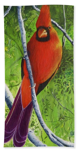 Northern Cardinal 1 Hand Towel