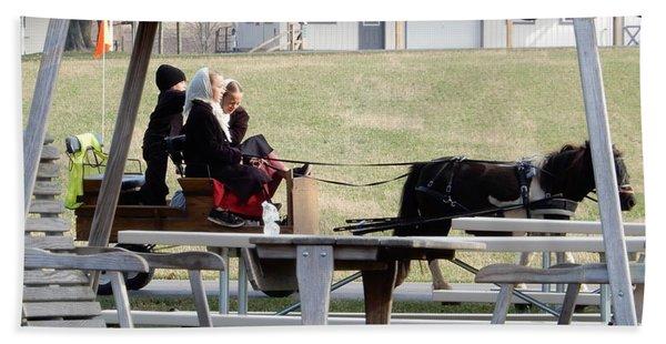 November Pony Cart Fun Hand Towel