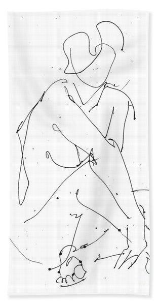 Nude-female-drawing-19 Bath Towel