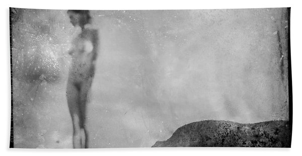 Nude On The Fence, Galisteo Bath Towel