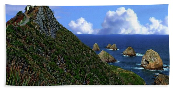 Nugget Point Lighthouse Hand Towel