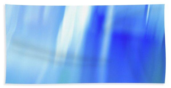Ocean Blues Abstract Hand Towel