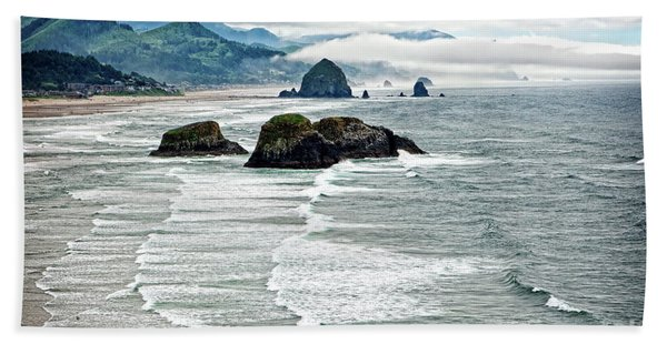 Ocean Rocks Off The Oregon Coast Hand Towel
