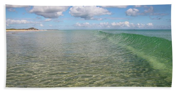 Ocean Waves And Clouds Rollin' By Hand Towel