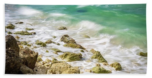 Oceanside In Trelawny, Jamaica Bath Towel