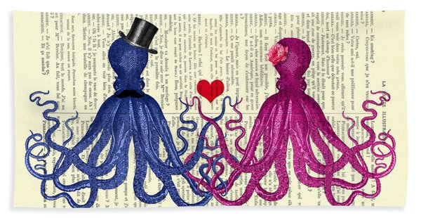 Octopus Couple Hand Towel