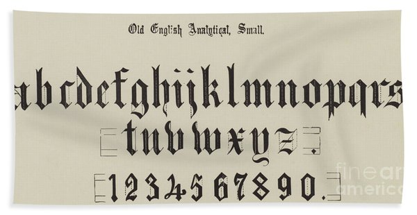Old English Analytical, Small Hand Towel
