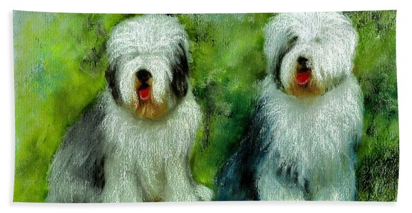 Old English Sheepdog Bath Towel