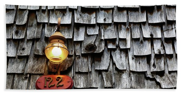 Old Fashioned Lamp And Wooden Shingles Frederick Maryland Hand Towel