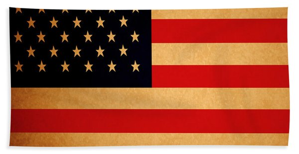 Old Glory . Square Bath Towel