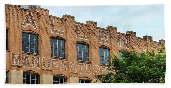Old Mill Building In Buford Hand Towel