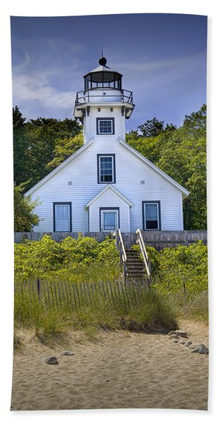 Old Mission Point Lighthouse In Grand Traverse Bay Michigan Number 2 Hand Towel