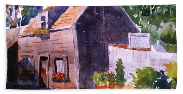 Old Wooden School House Bath Towel