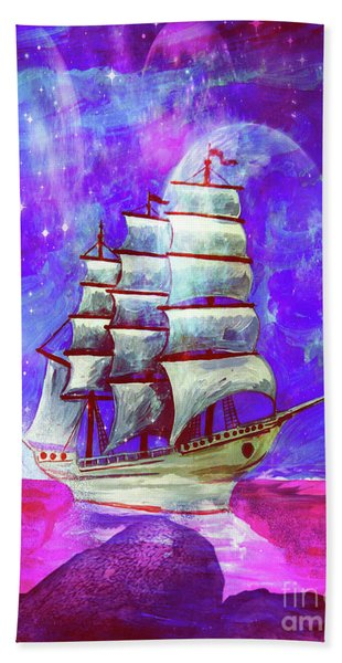 On The Sea At Sunset Hand Towel
