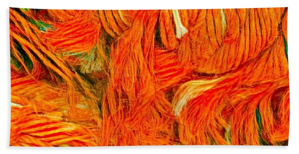 Hand Towel featuring the photograph Orange Art by Colette V Hera Guggenheim