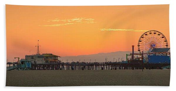 Orange Sunset - Panorama Bath Towel
