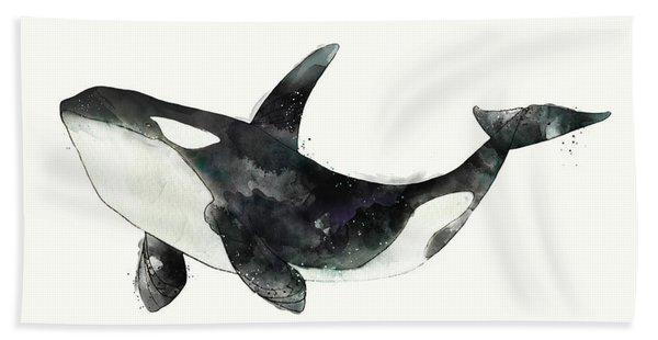 Orca From Arctic And Antarctic Chart Bath Towel