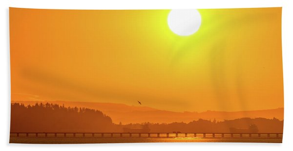 Oregon Sunrise Hand Towel