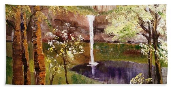 Oregon Waterfall Hand Towel