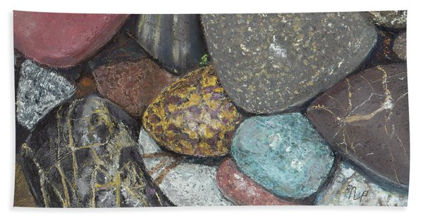Pacific Nw Beach Rocks Hand Towel