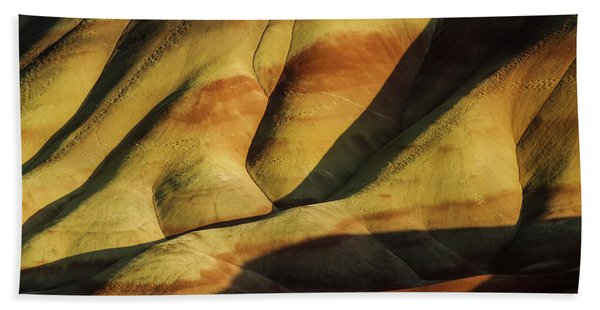 Painted In Gold Bath Towel