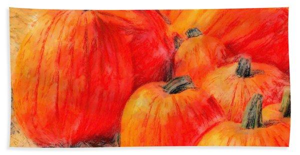 Painted Pumpkins Bath Towel