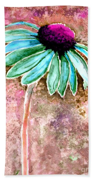 Bath Towel featuring the painting Painting Cone Flower 8615d by Mas Art Studio