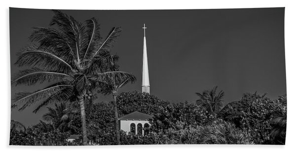 Palm Church Steeple Delray Beach Florida Hand Towel