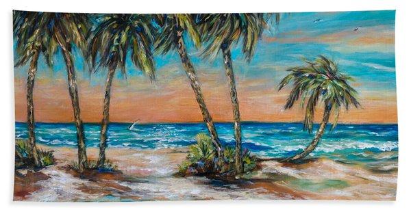 Palm Reflection Lagoon Hand Towel