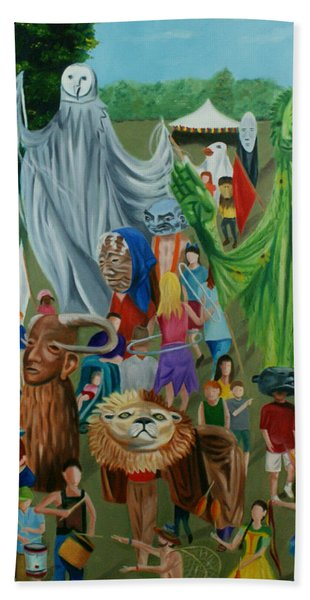 Paperhand Puppet Parade Hand Towel