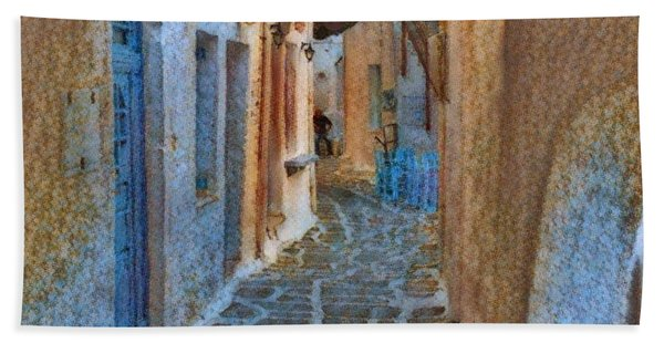 Hand Towel featuring the photograph Paros Beauty Island Greece  by Colette V Hera Guggenheim