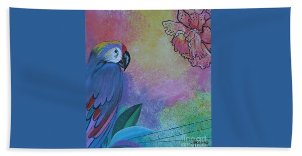 Parrot In Paradise Hand Towel