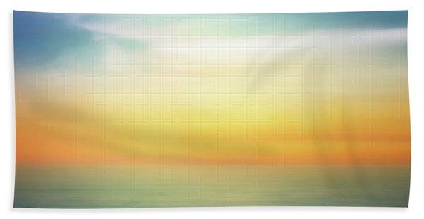 Pastel Sunrise Bath Towel