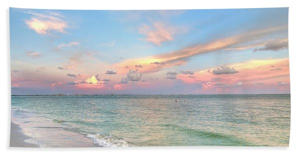 Pastel Sunset On Sanibel Island Bath Towel