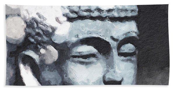 Peaceful Buddha 3- Art By Linda Woods Bath Towel